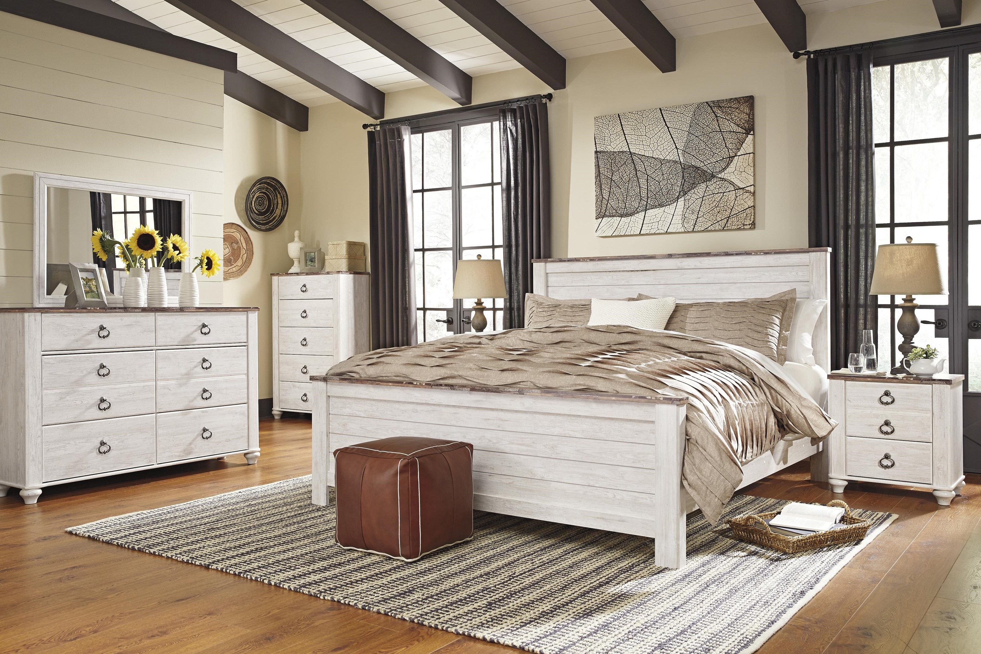 Willowton Queen Panel Bed Package by Signature Design by Ashley at Sam Levitz Furniture