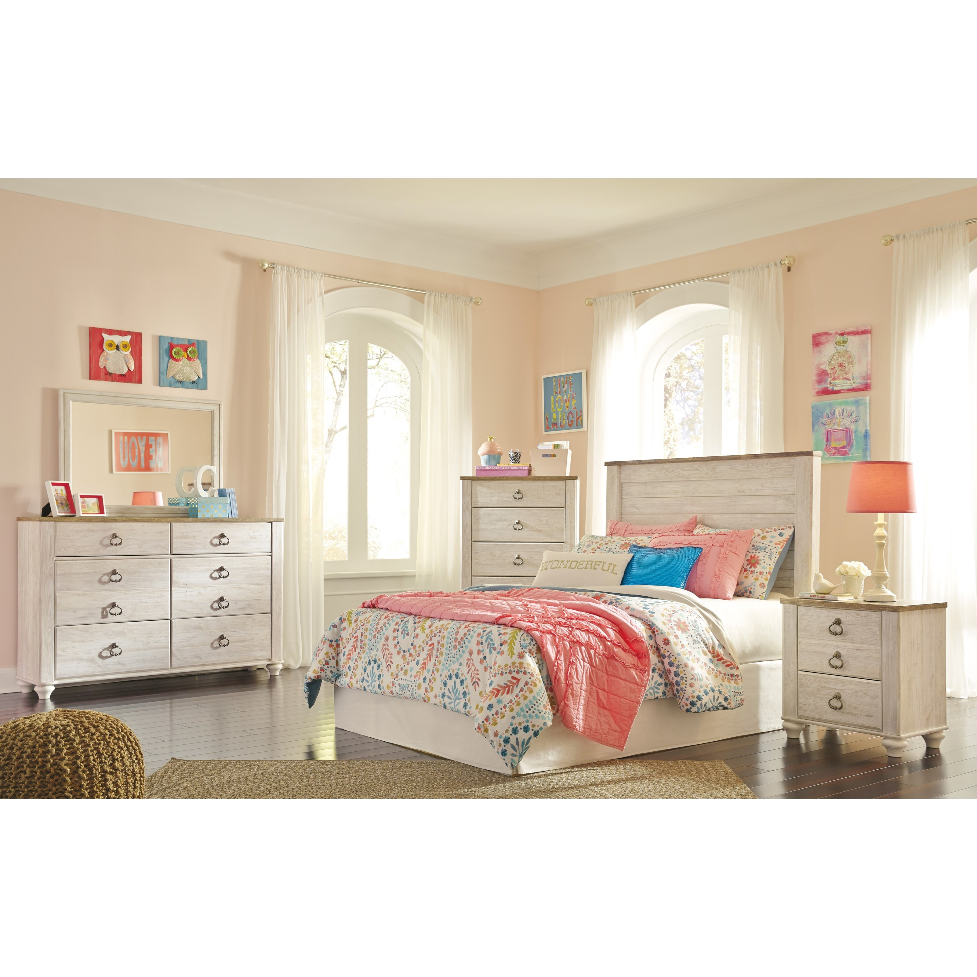 Willowton Full Bedroom Group by Ashley (Signature Design) at Johnny Janosik