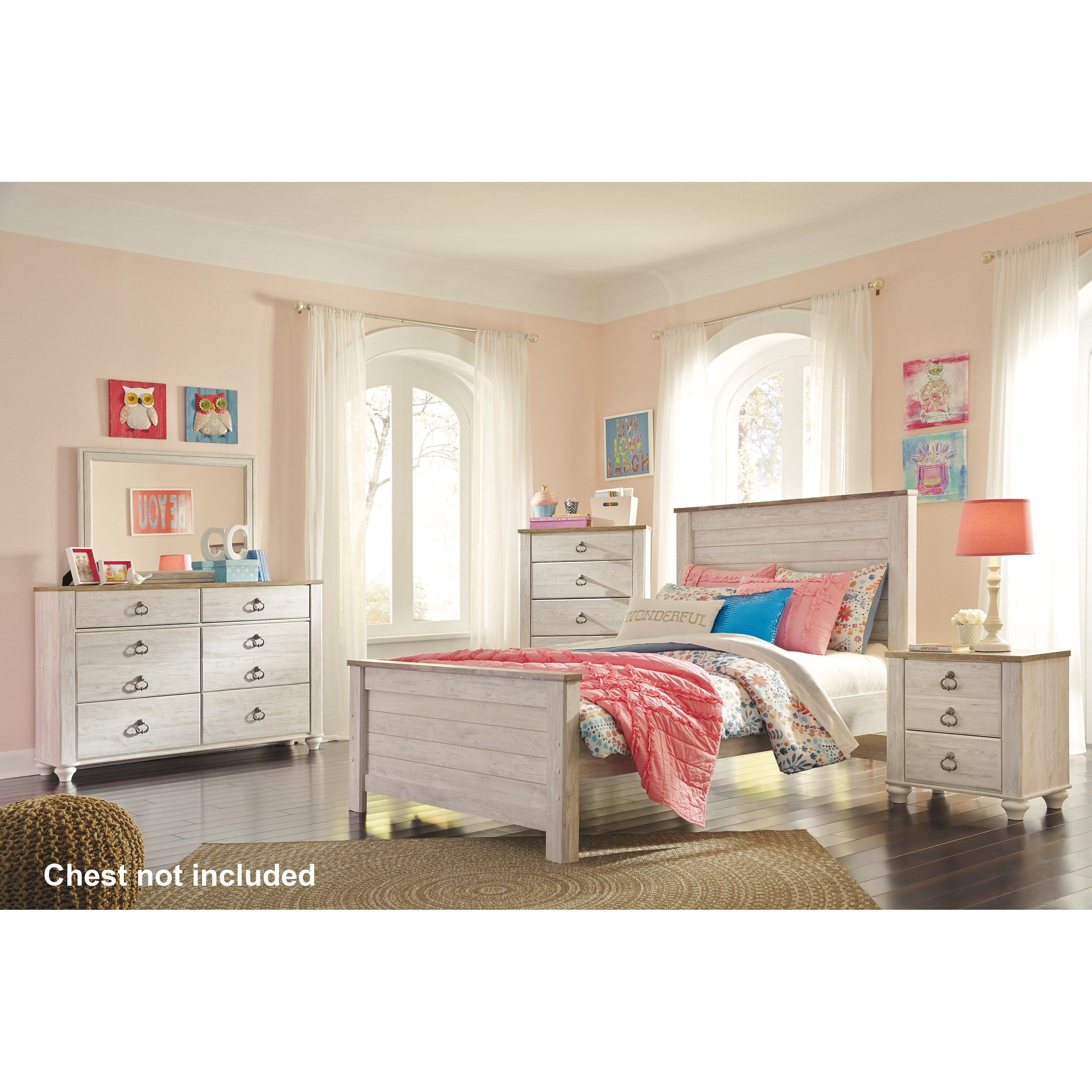 Willowton Full Bedroom Group by Signature Design by Ashley at Beck's Furniture
