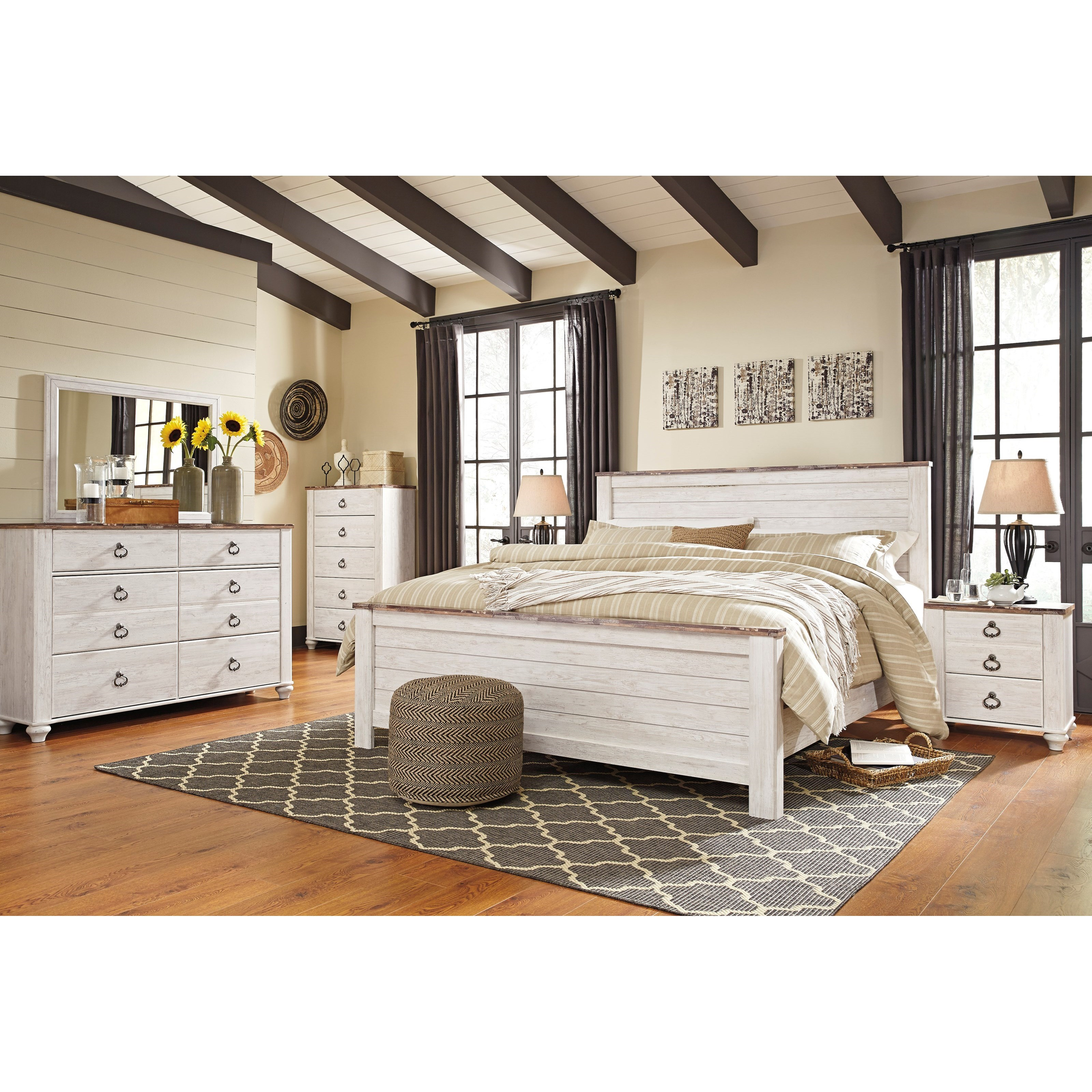Willowton King Bedroom Group by Signature Design by Ashley at Furniture Barn