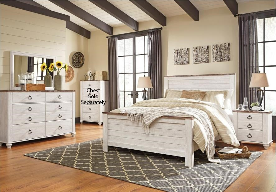 Willowton Queen 6-Piece Bedroom Group by Signature Design by Ashley at Coconis Furniture & Mattress 1st