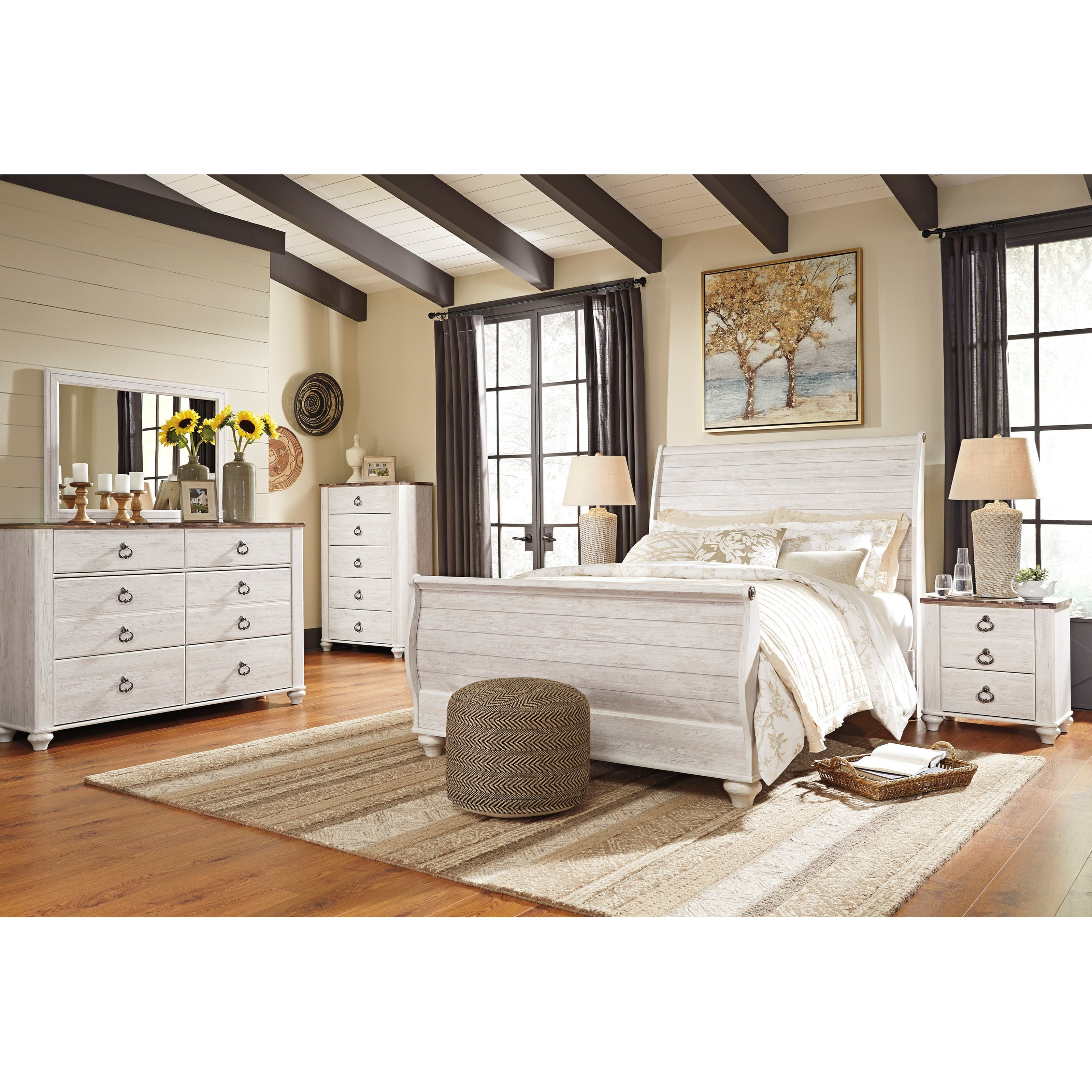Willowton Queen Bedroom Group by Signature Design by Ashley at Smart Buy Furniture