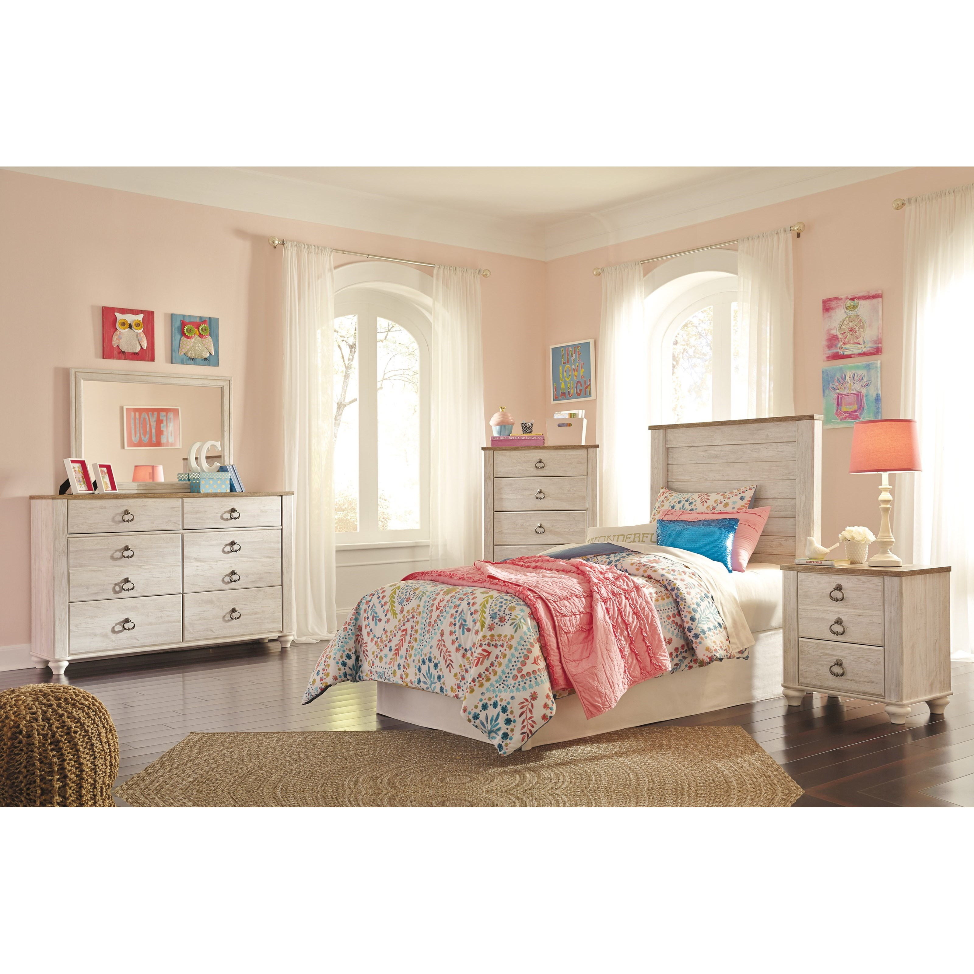 Willowton Twin Bedroom Group by Signature Design by Ashley at Northeast Factory Direct