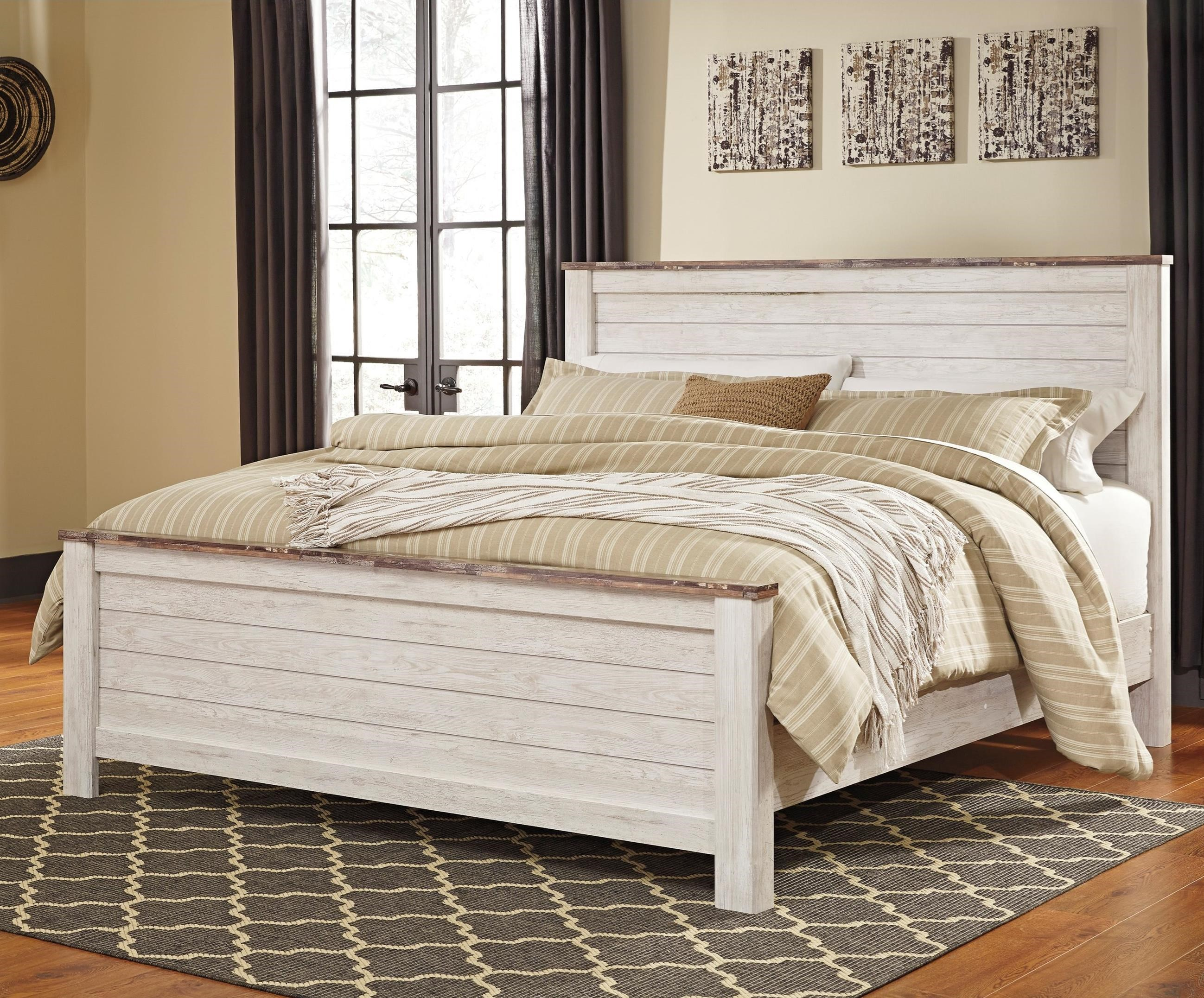 Willowton King Panel Bed by Signature Design by Ashley at Beck's Furniture
