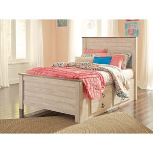 Full Bed with Underbed Storage Drawers
