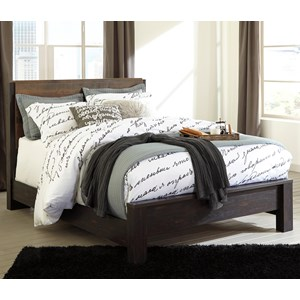 Modern Rustic Queen Panel Bed