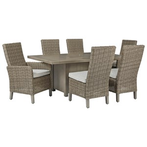 7-Piece Rectangular Fire Pit Table Set