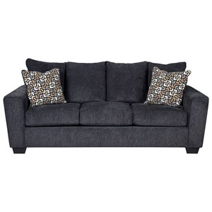 Sofa with Rounded Track Arms