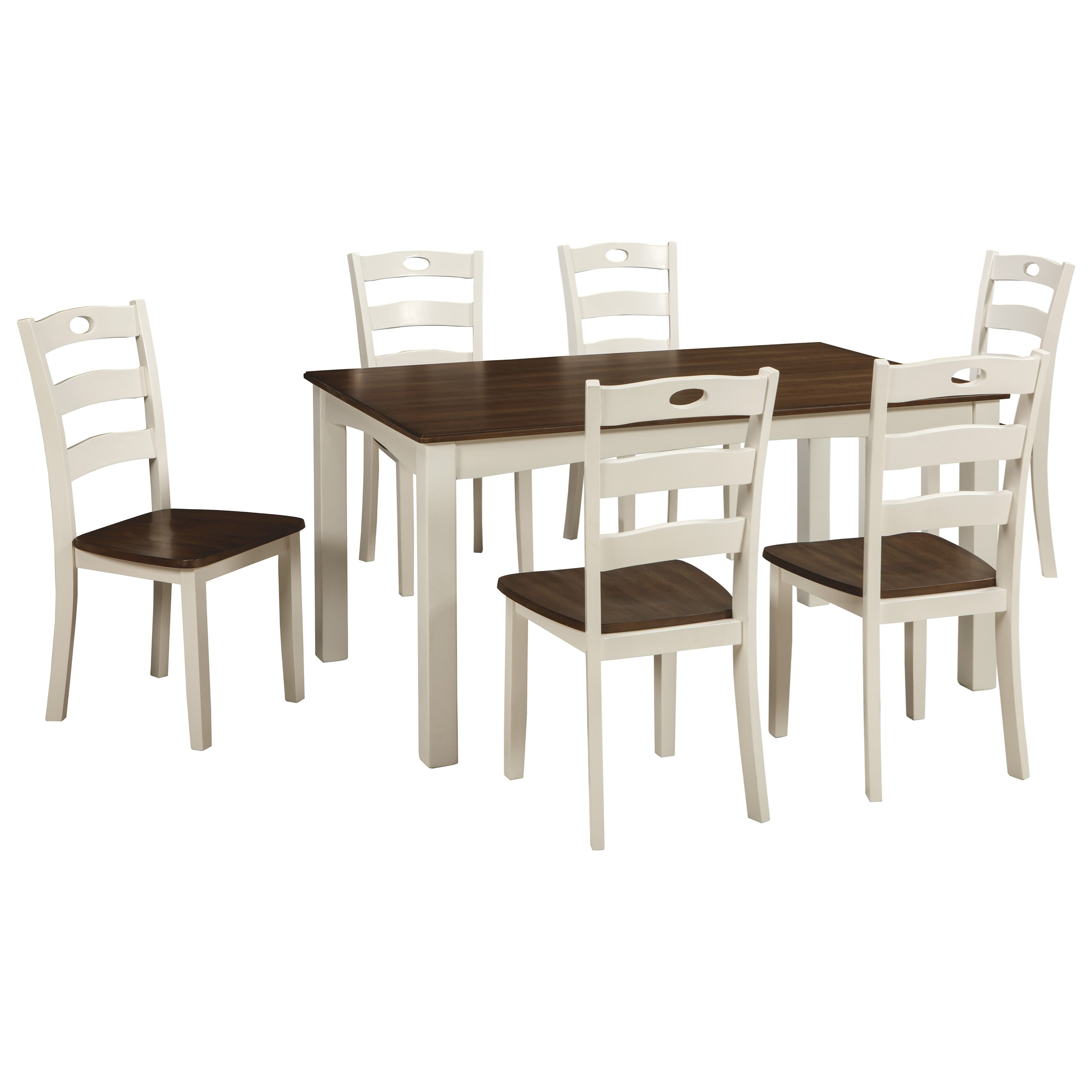 Woodanville 7-Piece Dining Room Table Set by Ashley (Signature Design) at Johnny Janosik