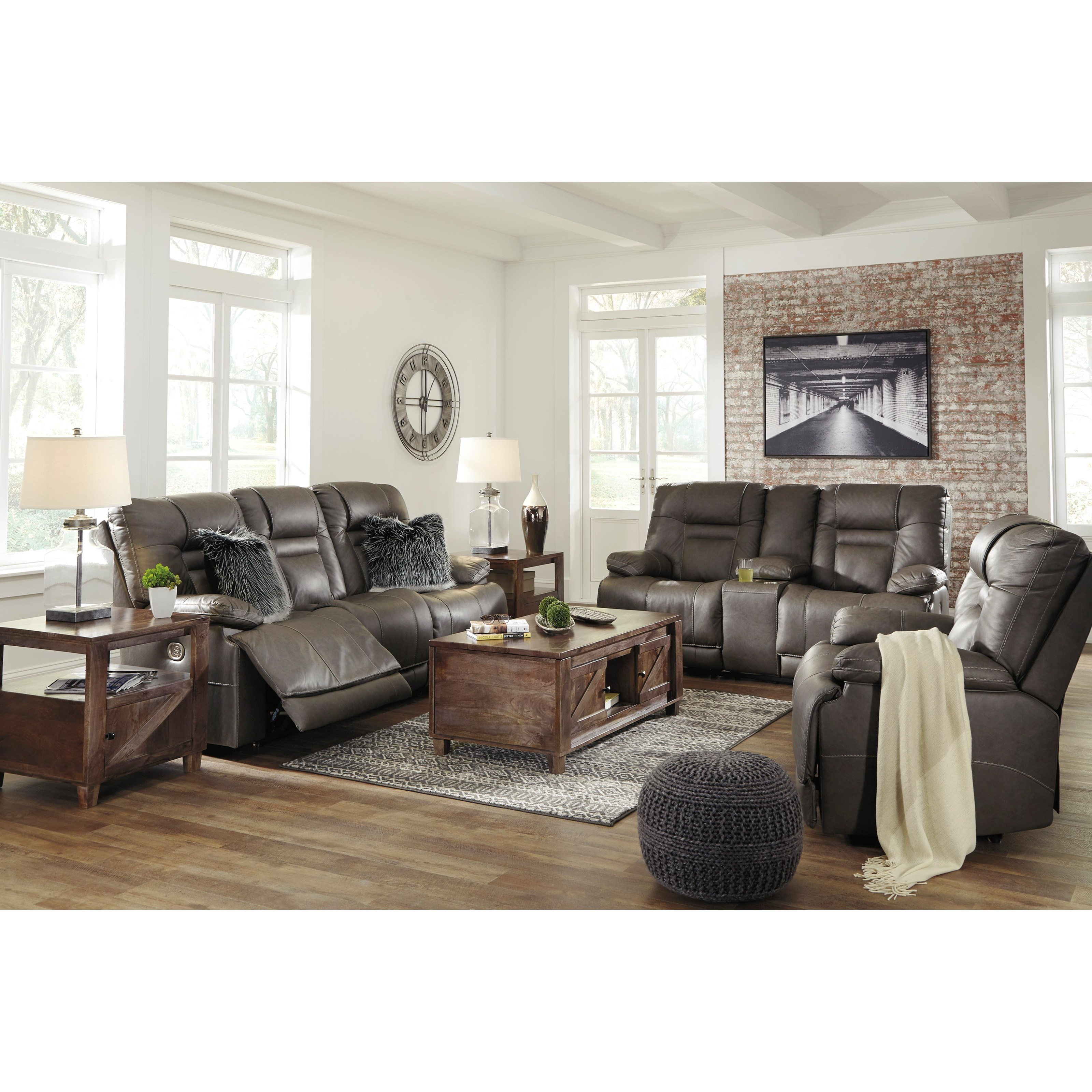 Wurstrow Reclining Living Room Group by Benchcraft at Virginia Furniture Market