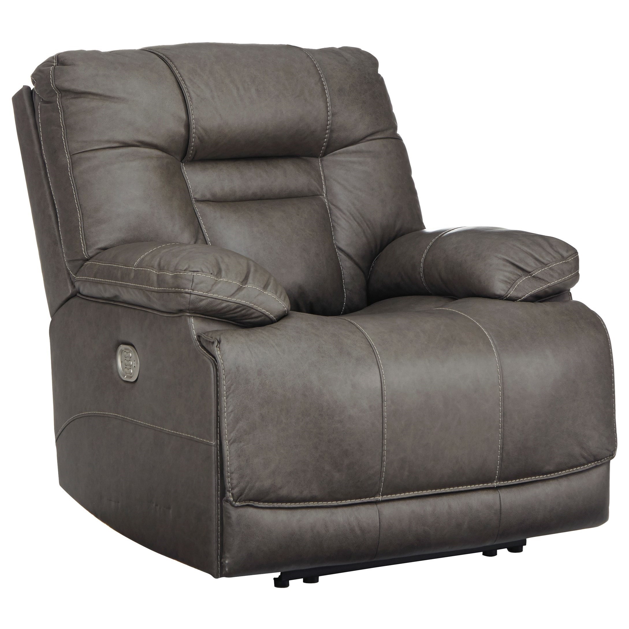 Watson TRIPLE Power Leather Recliner by Signature at Walker's Furniture