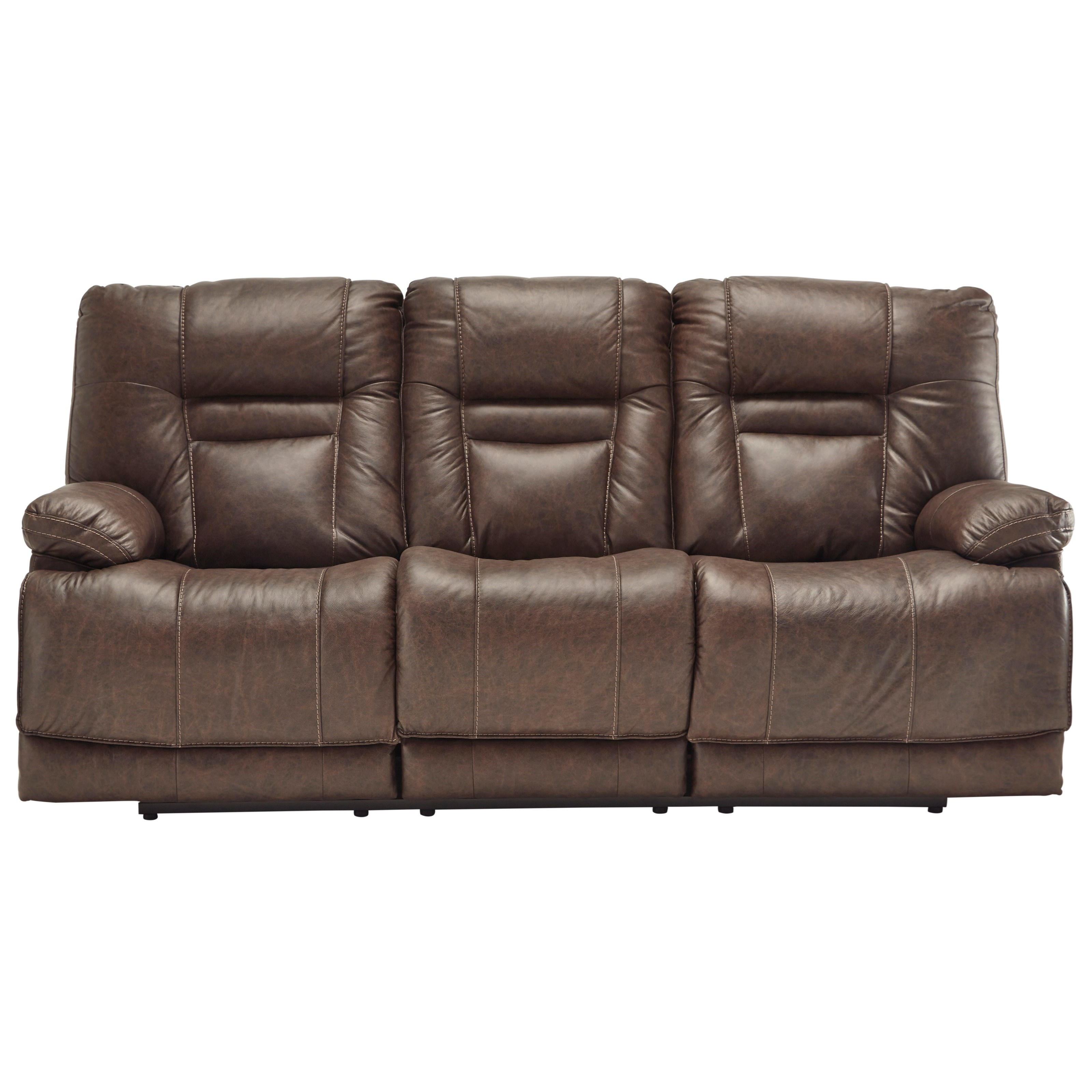 Wurstrow TRIPLE Power Reclining Leather Sofa by Signature at Walker's Furniture