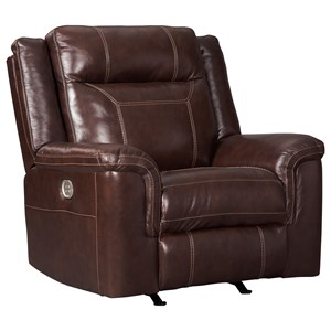 Power Rocker Recliner with Adjustable Headrest