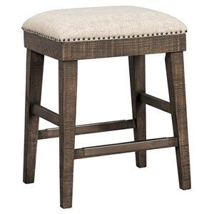 Farmhouse Backless Upholstered Stool