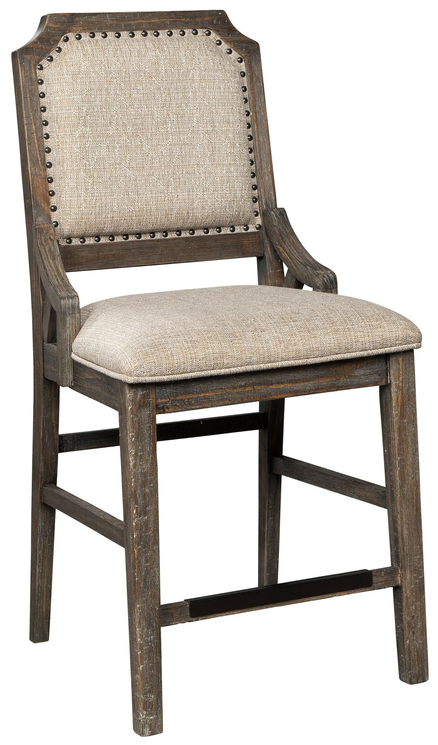 Wyndahl Upholstered Barstool by Signature Design by Ashley at Miller Waldrop Furniture and Decor