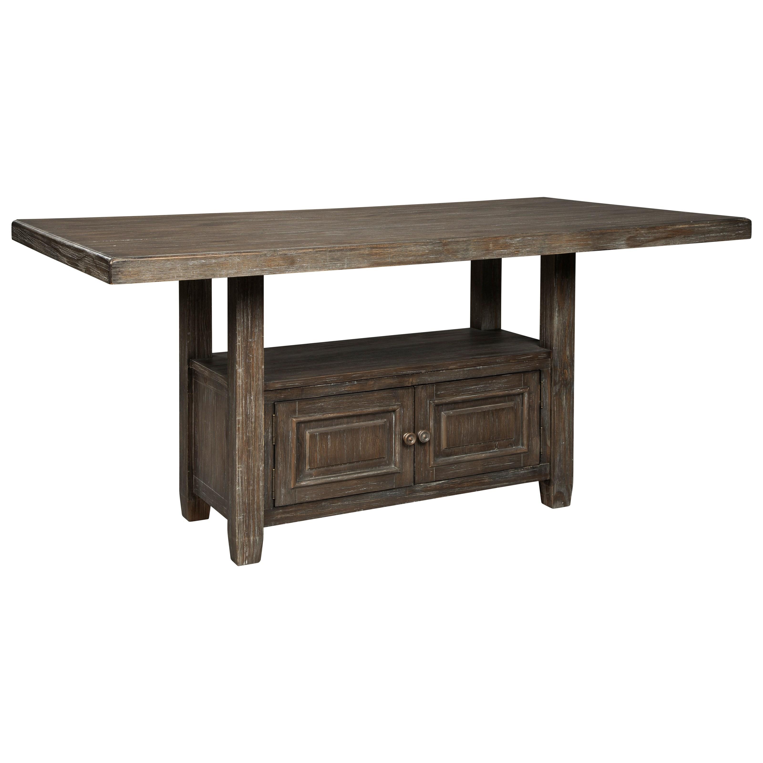 Wyndahl Rectangular Counter Table w/ Storage by Ashley (Signature Design) at Johnny Janosik