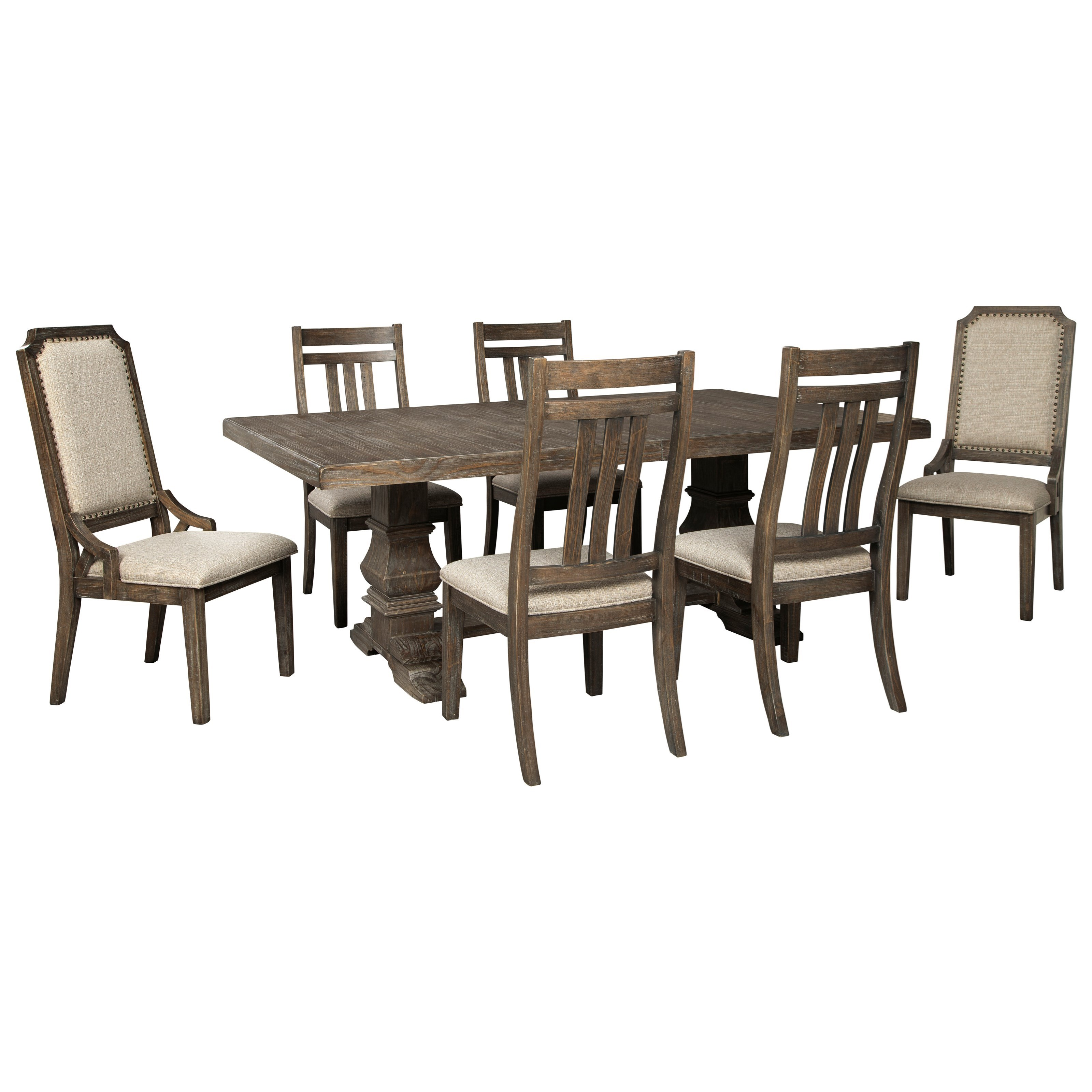 Wyndahl 7-Piece Dining Table Set by Ashley (Signature Design) at Johnny Janosik