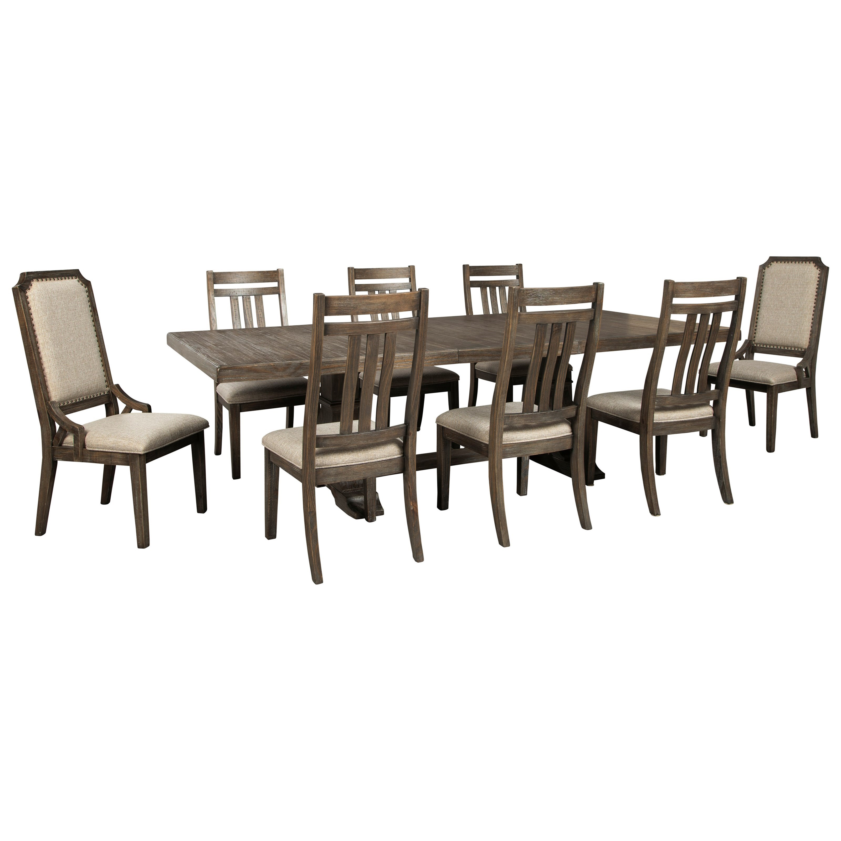Wyndahl 9-Piece Dining Table Set by Ashley (Signature Design) at Johnny Janosik