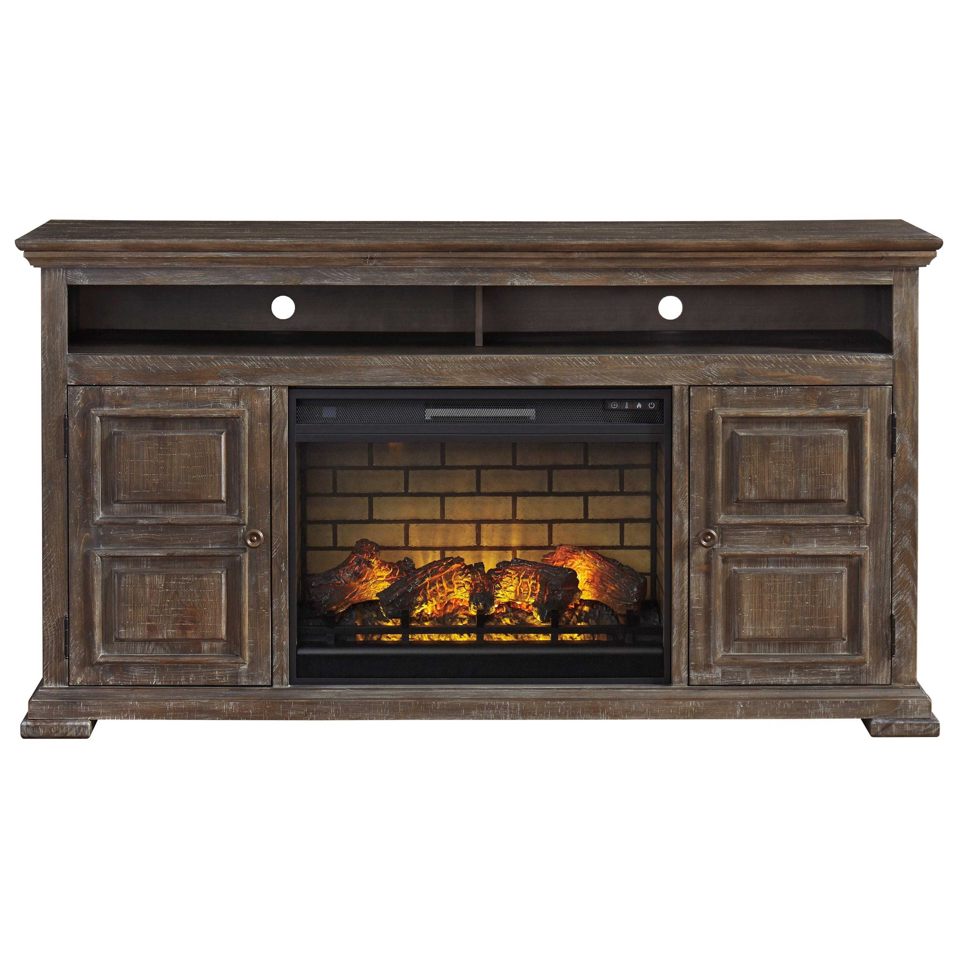 Wyndahl XL TV Stand w/ Fireplace by Ashley (Signature Design) at Johnny Janosik