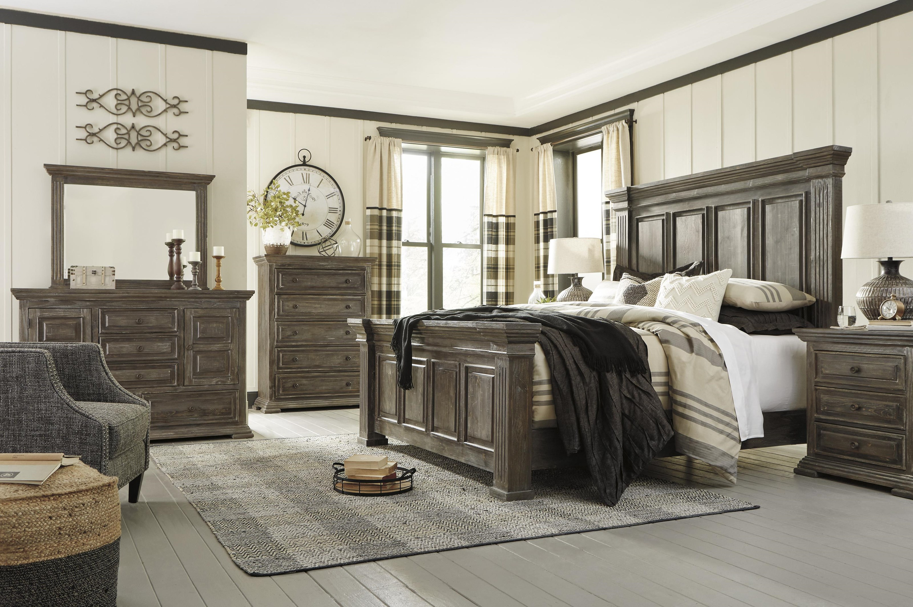 Wyndahl 5 Piece King Panel Bedroom set by Signature Design by Ashley at Sam Levitz Outlet