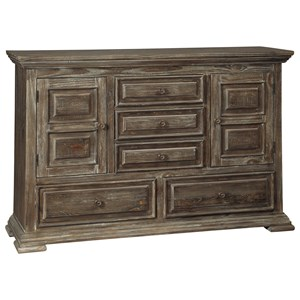 Rustic Lodge Style Dresser with Felt-Lined Drawer