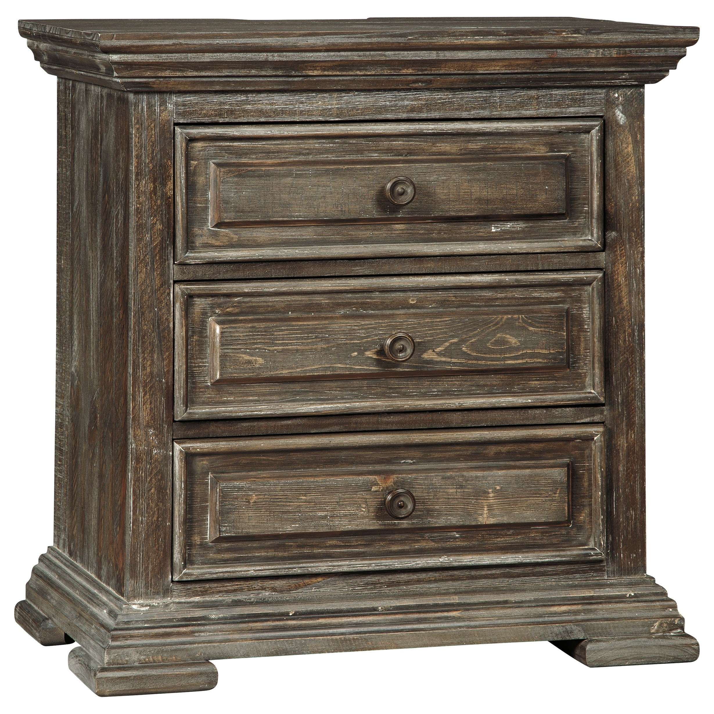 Wyndahl Three Drawer Nightstand by Ashley (Signature Design) at Johnny Janosik