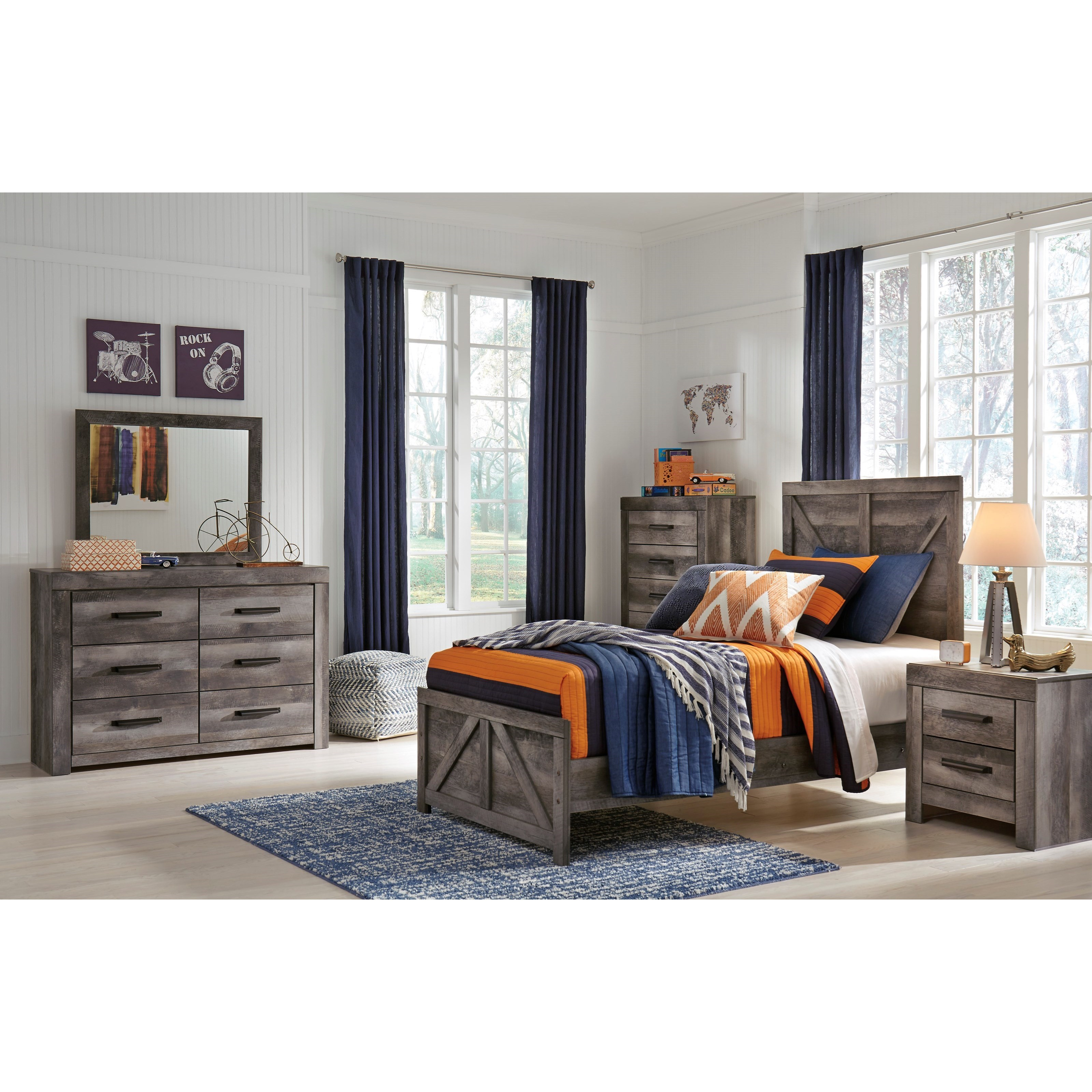Wynnlow Twin Bedroom Group by Signature Design by Ashley at Household Furniture