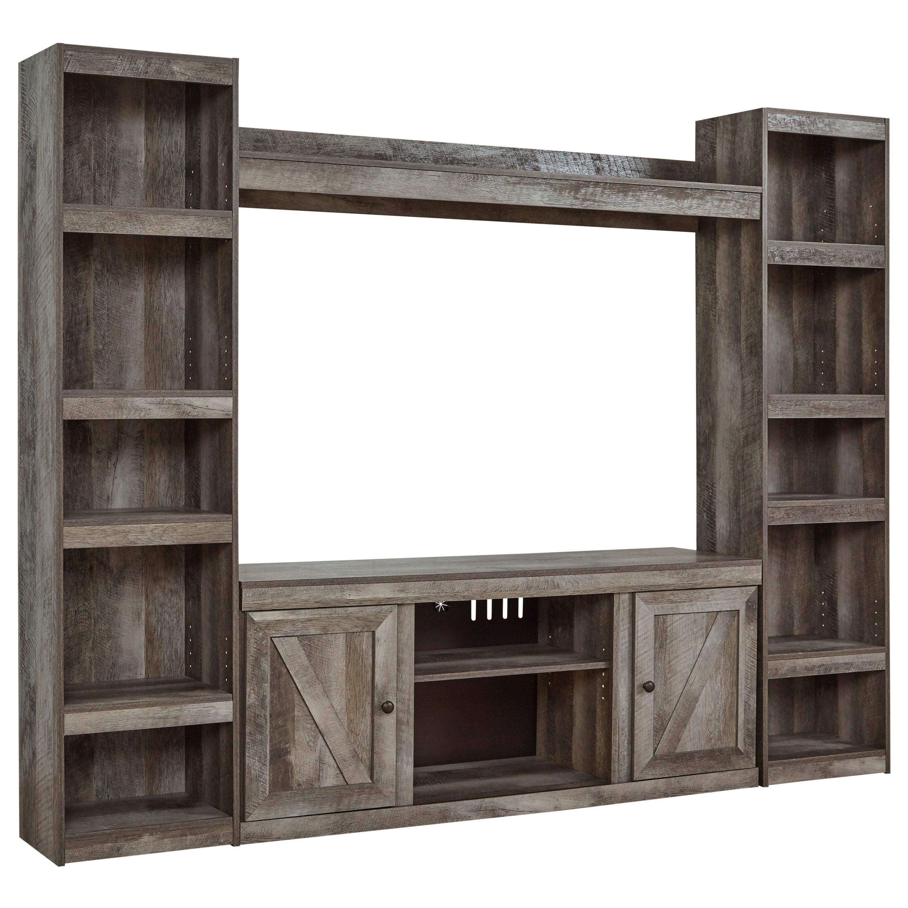 Wynnlow Large TV Stand w/ Piers and Bridge by Signature Design by Ashley at Household Furniture
