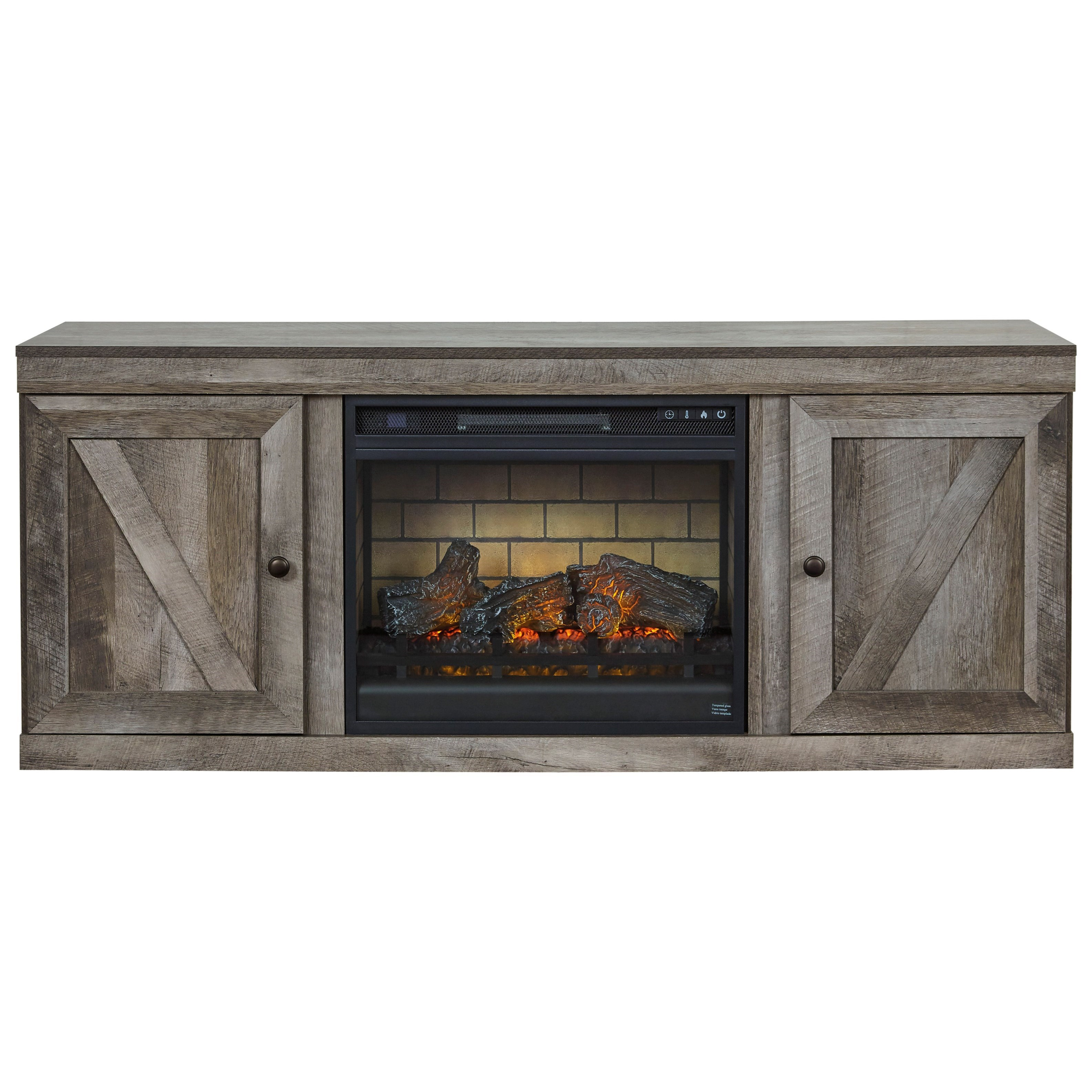 Wynnlow Large TV Stand w/ Fireplace Insert by Ashley (Signature Design) at Johnny Janosik