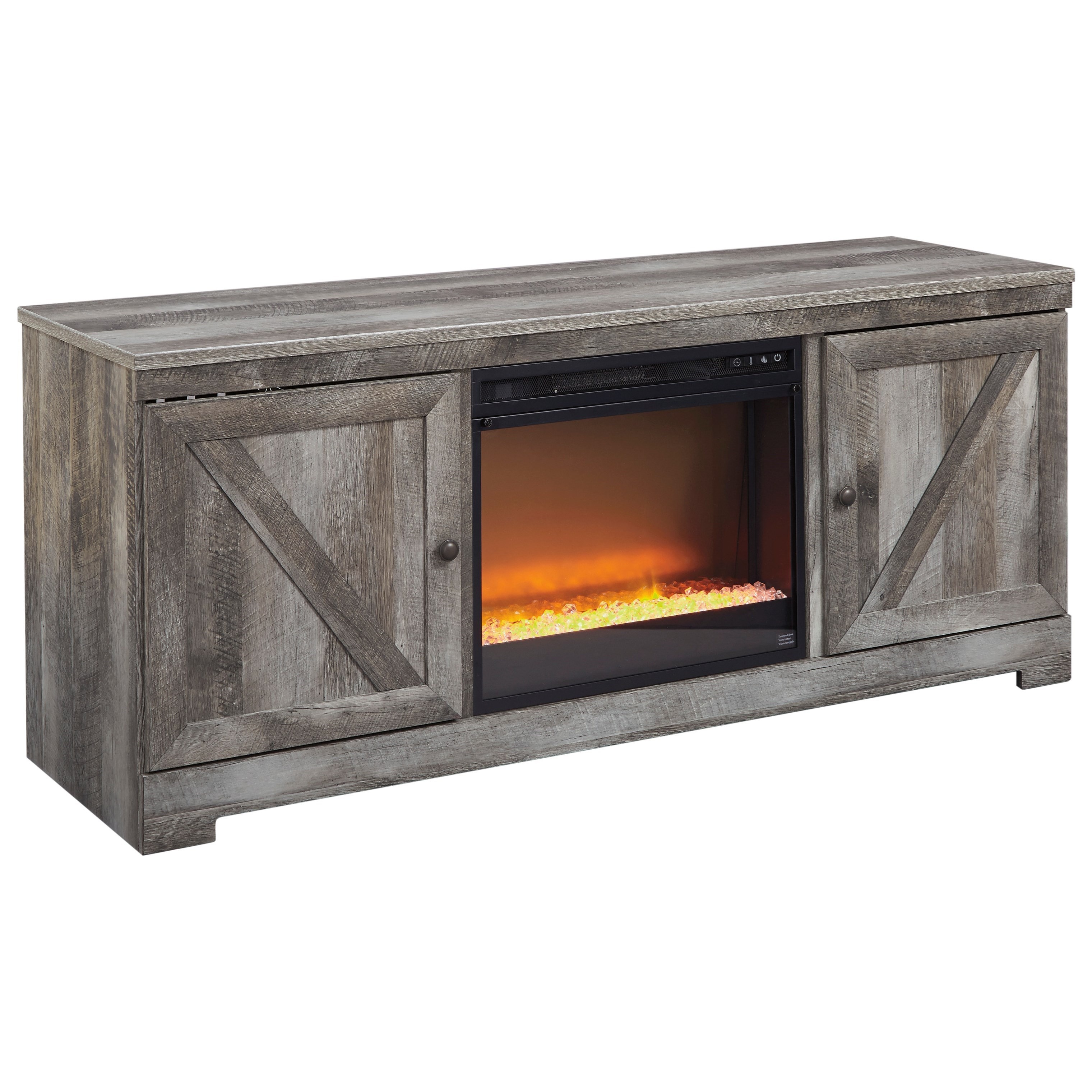 Wynnlow Large TV Stand with Fireplace at Sadler's Home Furnishings