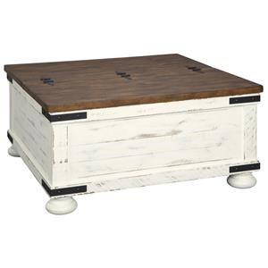 Cocktail Table w/ Storage and 2 Rectangular End Tables Set