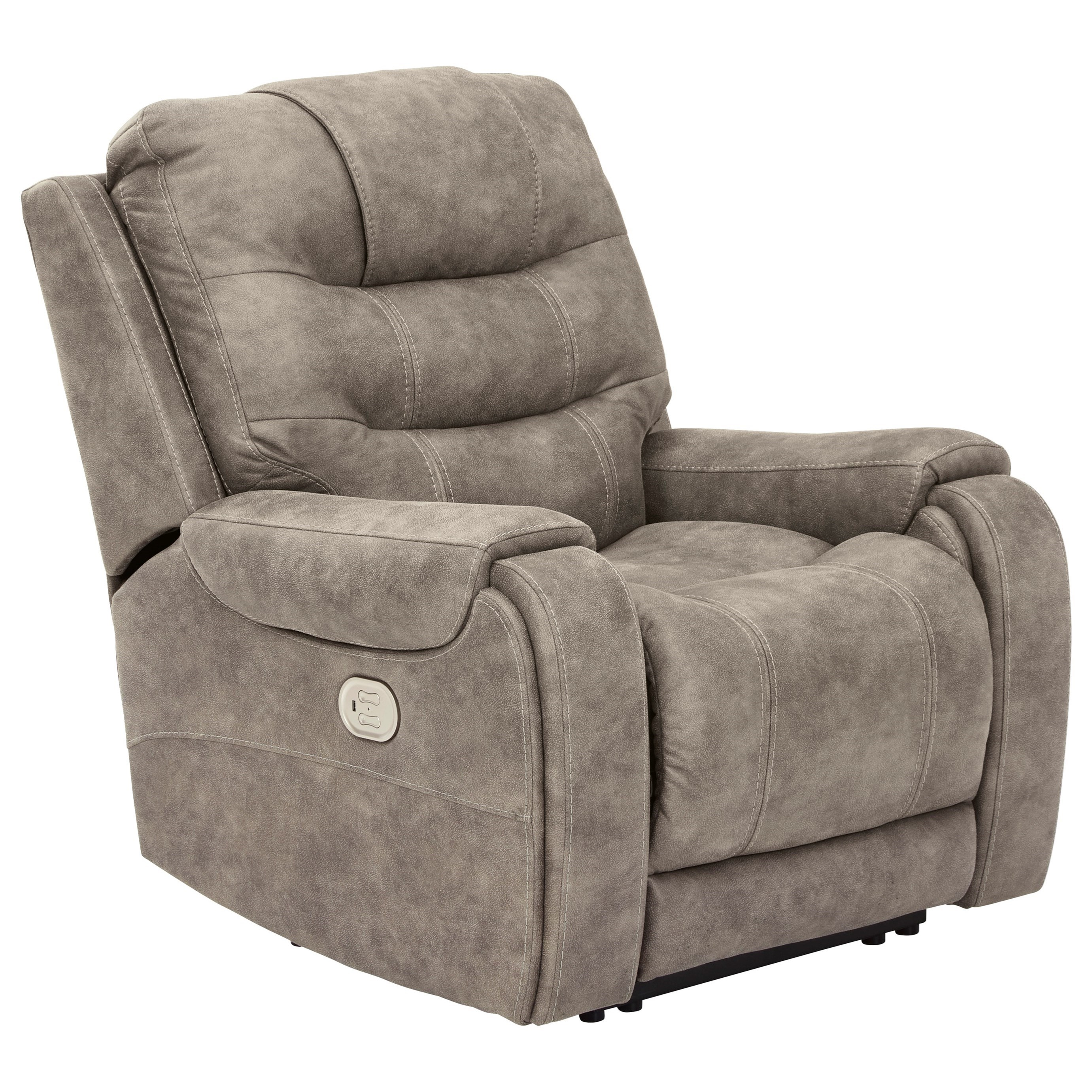Yacolt Power Recliner with Adjustable Headrest by Signature Design by Ashley at Beck's Furniture