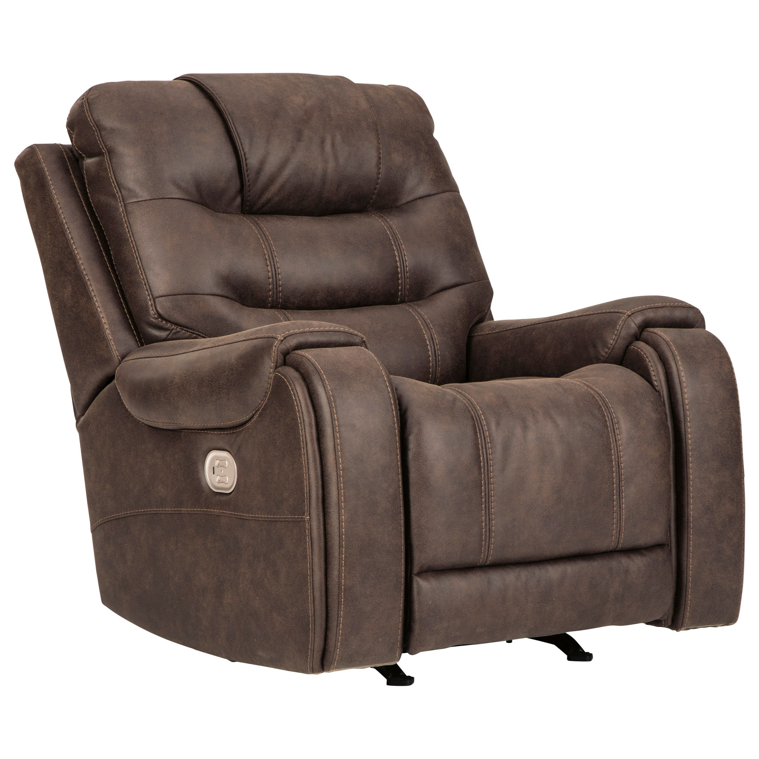 Yacolt Power Recliner with Adjustable Headrest by Signature Design by Ashley at Furniture and ApplianceMart