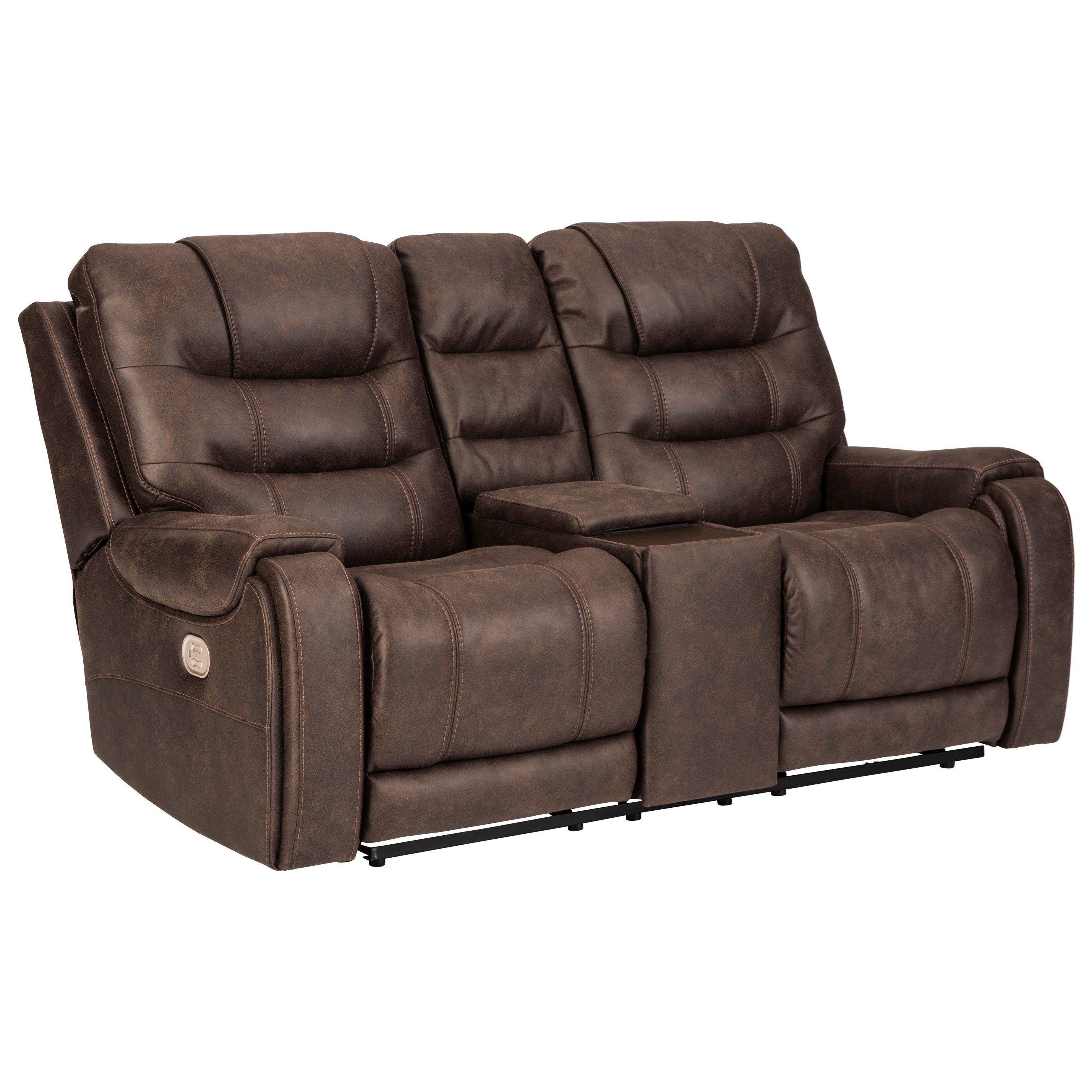 Yacolt Power Reclining Console Loveseat by Signature Design by Ashley at Beck's Furniture