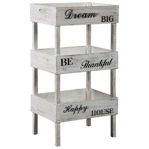 Cottage Storage Shelf with Decorative Inspirational Sayings