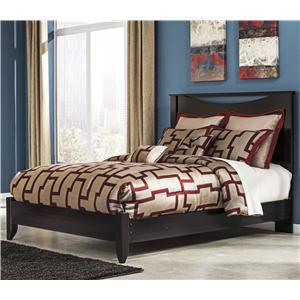 Queen Bed with Low-Profile Footboard