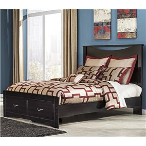 Signature Design by Ashley Zanbury Queen Bed with Storage Footboard
