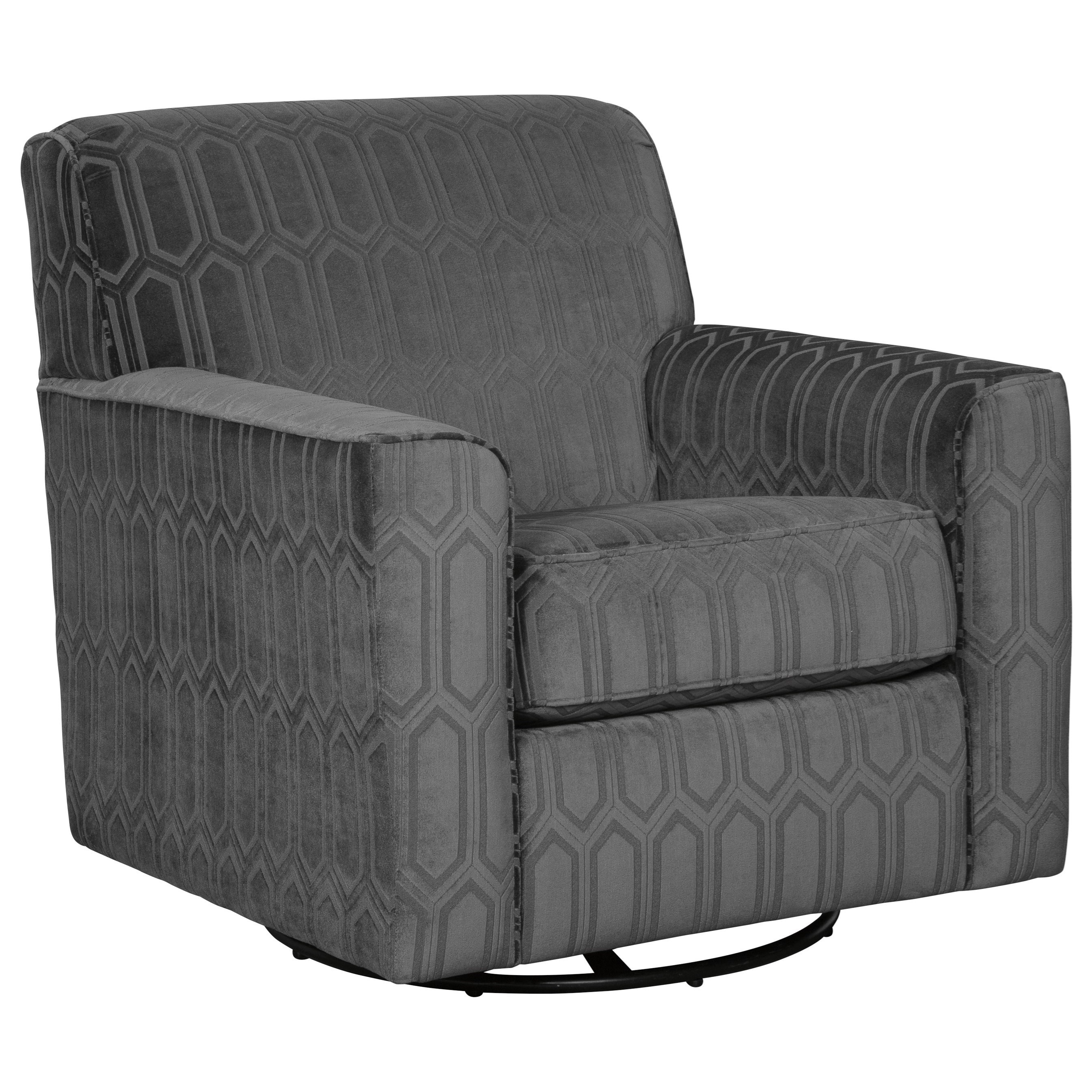 Zarina Swivel Accent Chair by Signature at Walker's Furniture