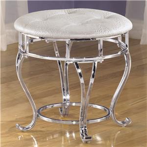 Signature Design by Ashley Zarollina Upholstered Stool