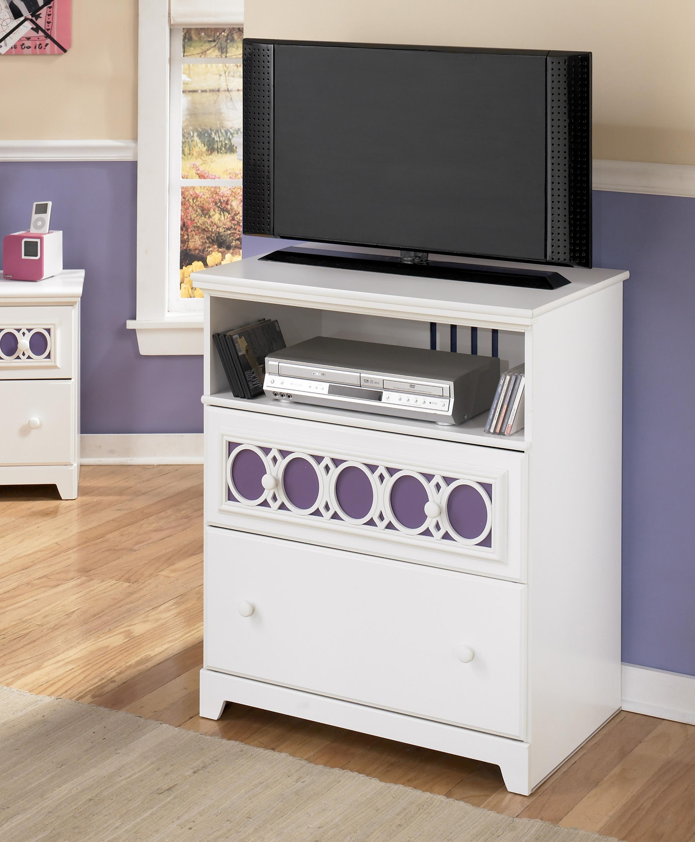 Zayley Media Chest by Signature Design at Fisher Home Furnishings