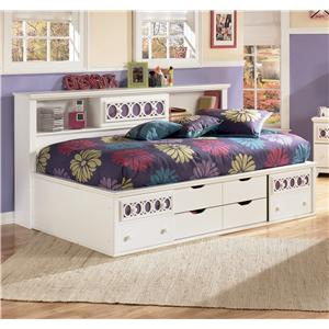 Twin Bedside Bookcase Daybed with Customizable Color Panels