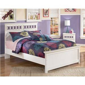 Full Platform Bed with Customizable Color Panels