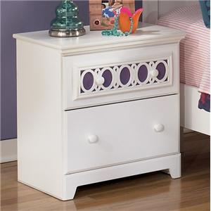 2-Drawer Night Stand with Customizable Color Panel