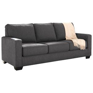 Queen Sofa Sleeper with Memory Foam Mattress