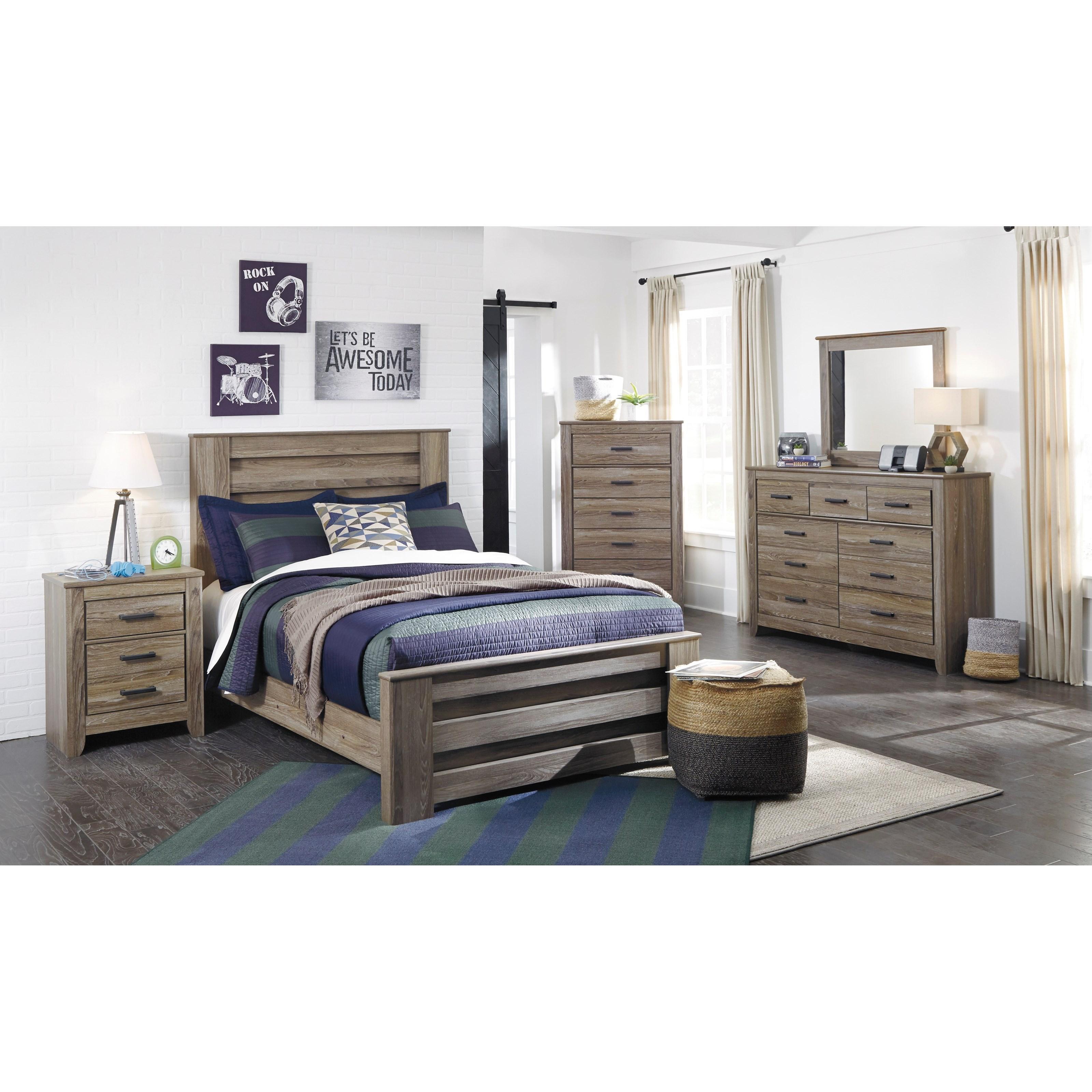 Zelen Full Bedroom Group by Ashley (Signature Design) at Johnny Janosik