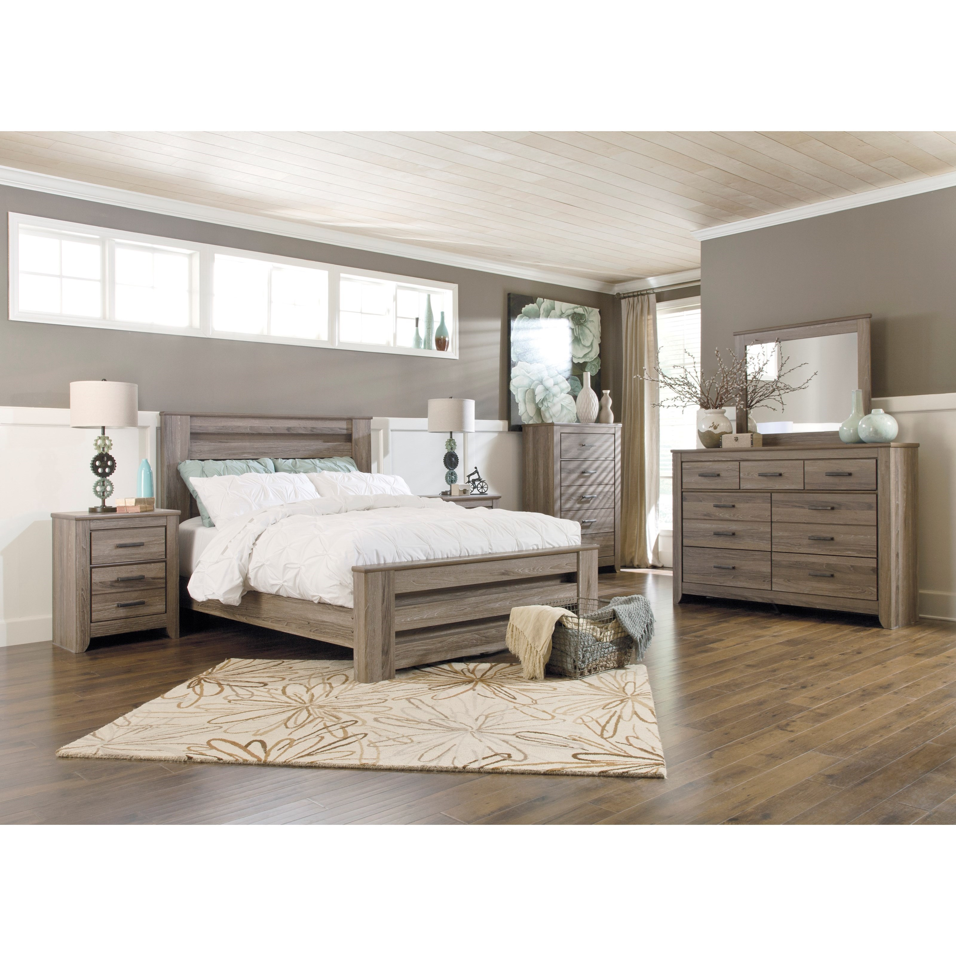 Zelen 6PC Queen Bedroom Group by Signature Design by Ashley at Value City Furniture