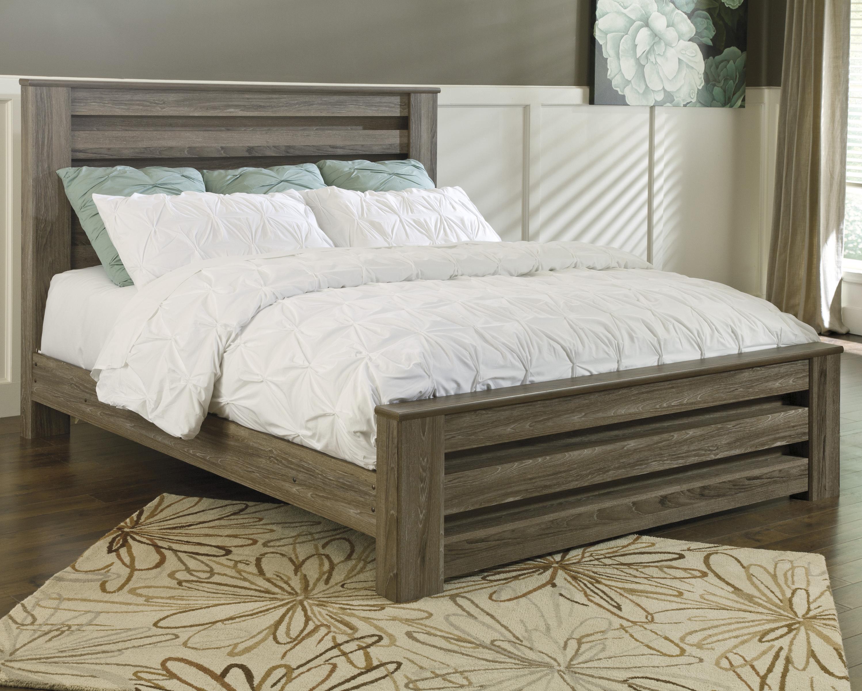 Zelen Zelen King Panel Bed by Ashley at Morris Home