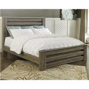 King Poster Bed in Warm Gray Rustic Finish