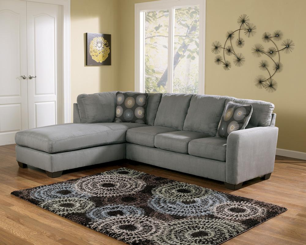 Zella - Charcoal Sectional Sofa with Left Arm Facing Chaise by Signature Design by Ashley at Northeast Factory Direct