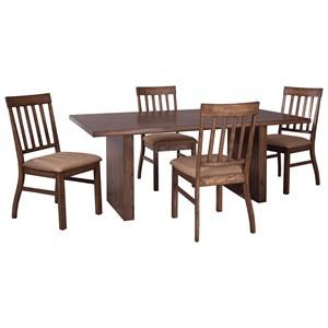 Signature Design by Ashley Zilmar 5-Piece Rectangular Dining Table Set